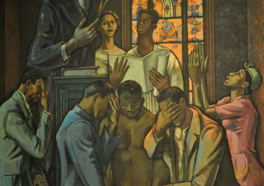 "Millard Sheets, ""The Negro's Contribution in the Social and Cultural Development of American Religion,"" 1939. Source: http://on.doi.gov/1AYU0b1."